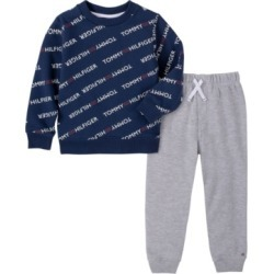 Tommy Hilfiger Baby Boys Tommy Log Fleece Pant Set found on Bargain Bro India from Macy's for $50.00