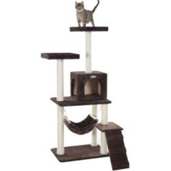 Gleepet Cat Tree 4 Levels, Ramp, Hammock and Condo