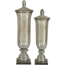 Uttermost Gilli Glass Decorative Lidded Containers, Set of 2