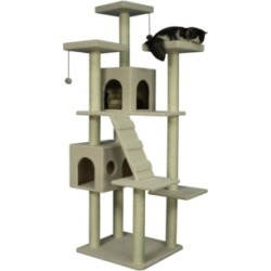 Armarkat Classic Cat Tree Multi Levels with Ramp, 3 Perches and 2 Condos