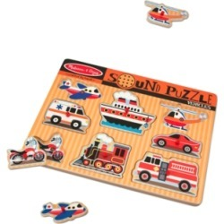 Melissa and Doug Kids Toy, Vehicles Sound Puzzle