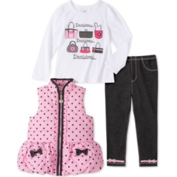 Kids Headquarters Toddler Girls 3-Pc. Ruffled Vest, Graphic Top & Leggings Set found on Bargain Bro Philippines from Macys CA for $67.41