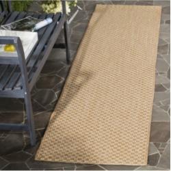 "Safavieh Courtyard Natural and Cream 2'3"" x 12' Sisal Weave Runner Area Rug"