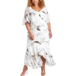 R & M Richards Plus Size Floral-Print Capelet Gown found on Bargain Bro from Macy's Australia for USD $103.38