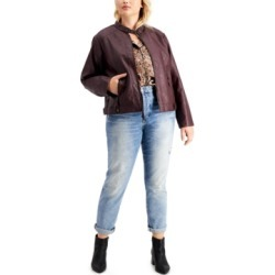 Maralyn & Me Trendy Plus Size Faux-Leather Jacket found on MODAPINS from Macy's for USD $22.93