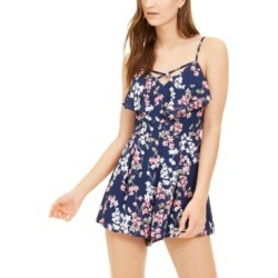 Trixxi Juniors' Popover Cross-Front Romper found on Bargain Bro Philippines from Macy's for $19.99
