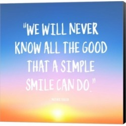 Simple Smile - Mother Teresa Quote (Dawn) by Quote Master Canvas Art