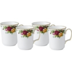 Royal Albert Old Country Roses Bristol Mug Set of 4, Created for Macy's found on Bargain Bro Philippines from Macy's for $69.99