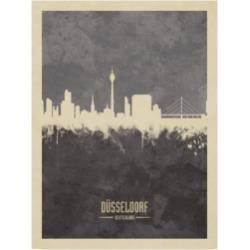 Michael Tompsett Dusseldorf Germany Skyline Gray Canvas Art - 37