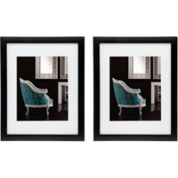 "Philip Whitney Black 11"" x 14"" Frame - Set of 2"
