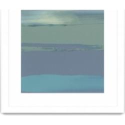 "Giant Art Blue Coast Ii Matted and Framed Art Print, 36"" x 36"""