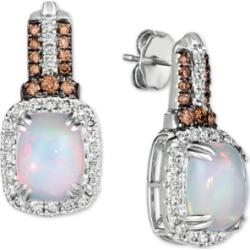 Le Vian Neopolitan Opal (2 ct. t.w) & Diamond (7/8 ct. t.w.) Drop Earrings in 14k White Gold found on Bargain Bro India from Macy's for $2910.00