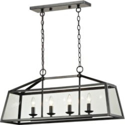 Alanna Collection 4 light pendant in Oil Rubbed Bronze