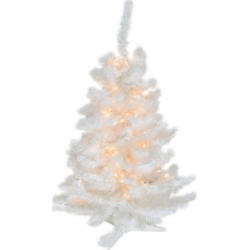 Northlight 3' Pre-Lit Snow White Artificial Christmas Tree - Clear Lights found on Bargain Bro India from Macys CA for $107.39