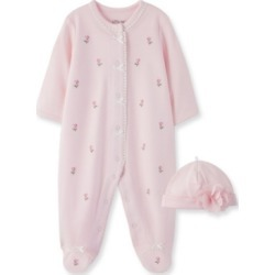 Little Me Baby Girl Rosebud Footie and Hat found on Bargain Bro India from Macy's for $36.00
