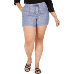 Style & Co Plus Size Cross-Dye Shorts, Created For Macy's