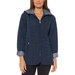 Jones New York Water-Resistant Hooded Quilted Jacket found on MODAPINS from Macy's Australia for USD $96.68
