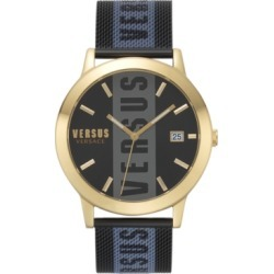 Versus by Versace Men's Barbes Black Stainless Steel Mesh Bracelet Watch 44mm found on Bargain Bro Philippines from Macy's for $195.00