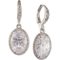 Givenchy Silver-Tone Cubic Zirconia Oval Drop Earrings found on Bargain Bro India from Macy's for $11.23