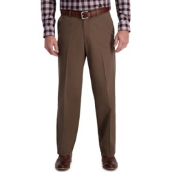 Haggar Men's W2W Pro Relaxed-Fit Flat Front Casual Pants found on MODAPINS from Macys CA for USD $34.72