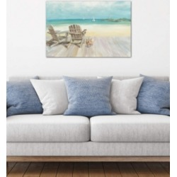 """iCanvas """"Seaside Morning No Window"""" by Danhui Nai Gallery-Wrapped Canvas Print (26 x 40 x 0.75)"""