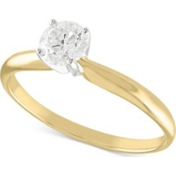 Certified Diamond Solitaire Engagement Ring (1/2 ct. t.w.) in 14K White or Yellow Gold found on Bargain Bro India from Macy's for $1040.00