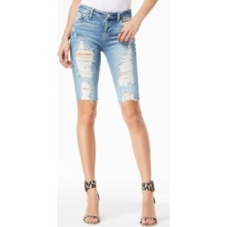 Guess Destructed Denim Bermuda Shorts found on MODAPINS from Macy's for USD $47.40