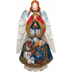 G.DeBrekht Woodcarved Nativity Angel Santa Figurine