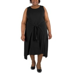 Robbie Bee Plus Size Tie-Waist Shift Dress found on Bargain Bro from Macy's Australia for USD $20.52