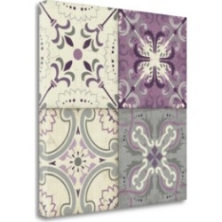 Tangletown Fine Art Lavender Glow Tiles by Pela Studio Giclee Print on Gallery Wrap Canvas, 24