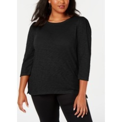 Inc Plus Size Cotton Puff-Sleeve Top, Created for Macy's found on Bargain Bro India from Macy's Australia for $41.88