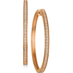 Le Vian Nude Diamond Hoop Earrings (9/10 ct. t.w.) in 14k Rose Gold (Also available in Yellow Gold)