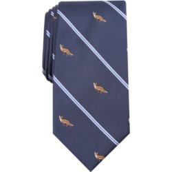 Club Room Men's Fox Print Tie, Created For Macy's