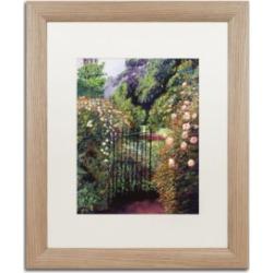 David Lloyd Glover 'Quiet Garden Entrance' Matted Framed Art - 16