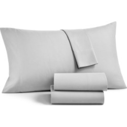 Martha Stewart Essentials Solid Microfiber 4-Pc. King Sheet Set, Created for Macy's Bedding found on Bargain Bro Philippines from Macy's for $70.00