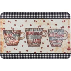 Home Dynamix Designer Chef Coffee Words Cushioned Anti-Fatigue Kitchen Mat