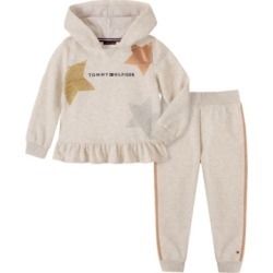 Tommy Hilfiger Baby Girls Hooded Fleece Pant Set found on Bargain Bro Philippines from Macy's for $50.00
