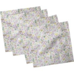 "Ambesonne Winter Season Set of 4 Napkins, 18"" x 18"""