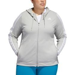 adidas Plus Size Striped Zip Hoodie found on MODAPINS from Macy's for USD $65.00