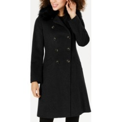Tahari Double-Breasted Faux-Fur-Collar Coat found on MODAPINS from Macy's for USD $219.99