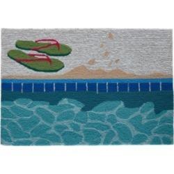 "Liora Manne Frontporch Poolside Aqua 1'8"" x 2'6"" Area Rug"
