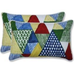 Pillow Perfect Tribune Multi Rectangular Throw Pillow, Set of 2