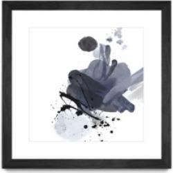 "Giant Art Blue and Black Splash I Matted and Framed Art Print, 36"" x 36"""