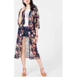 Ultra Flirt Juniors' Printed Mesh Duster Kimono found on MODAPINS from Macy's Australia for USD $41.52