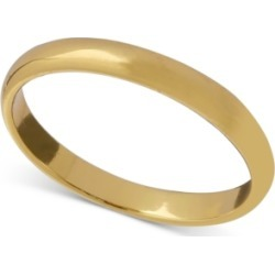 Giani Bernini Polished Band in 18k Gold-Plated Sterling Silver, Created for Macy's