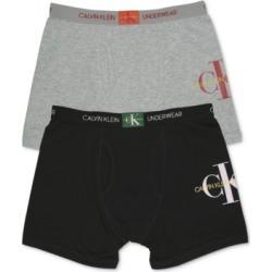 Calvin Klein Big Boys 2-Pack Logo Boxer Briefs