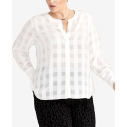 Rachel Rachel Roy Plus Size Checkered Blouse, Created for Macy's found on Bargain Bro India from Macys CA for $59.66