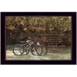 "Trendy Decor 4U Journey Together By Robin-Lee Vieira, Printed Wall Art, Ready to hang, Black Frame, 20"" x 14"""