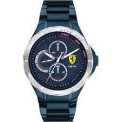 Ferrari Men's Pista Blue Pvd Stainless Steel Bracelet Watch 44mm found on Bargain Bro India from Macy's for $195.00