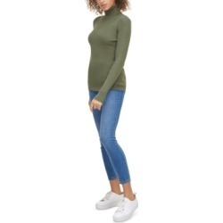 Calvin Klein Jeans Ribbed Long-Sleeve Turtleneck found on MODAPINS from Macy's for USD $35.70